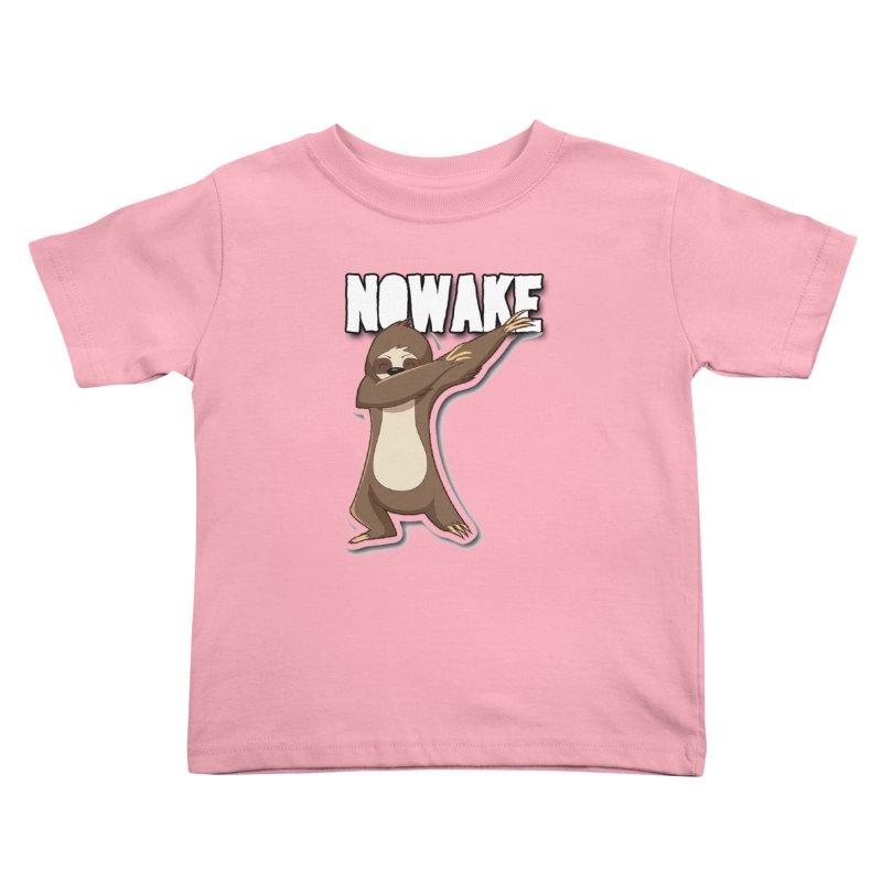 NOWAKE Dabbing Sloth Kids Toddler T-Shirt by NOWAKE's Artist Shop