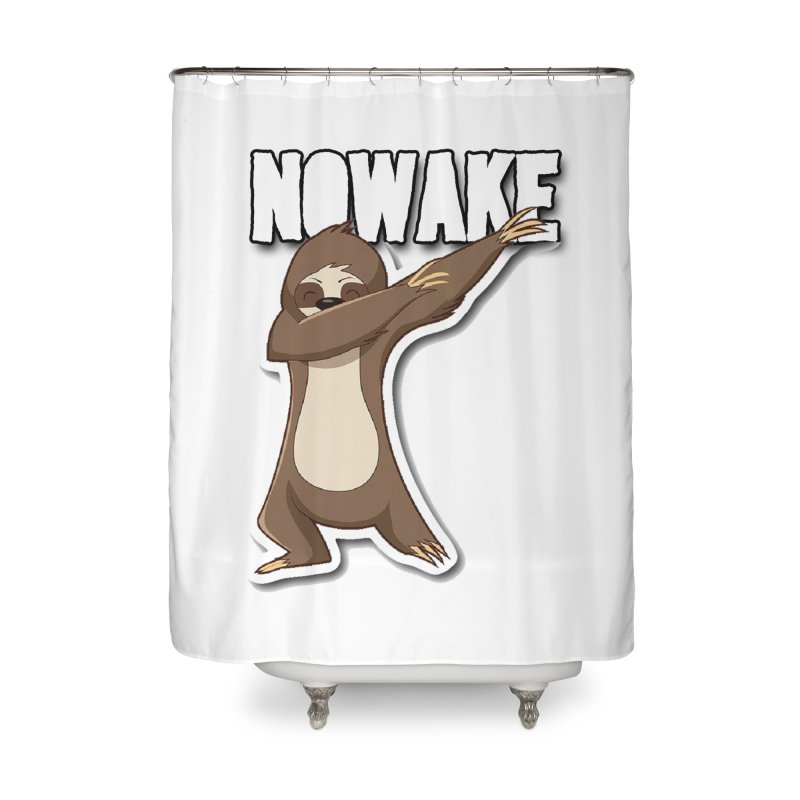 NOWAKE Dabbing Sloth Home Shower Curtain by NOWAKE's Artist Shop