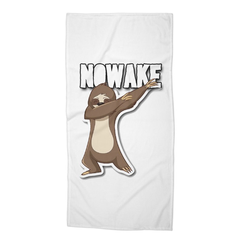 NOWAKE Dabbing Sloth Accessories Beach Towel by NOWAKE's Artist Shop