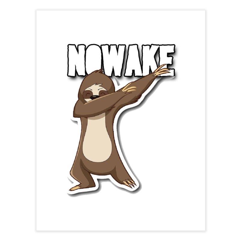 NOWAKE Dabbing Sloth Home Fine Art Print by NOWAKE's Artist Shop