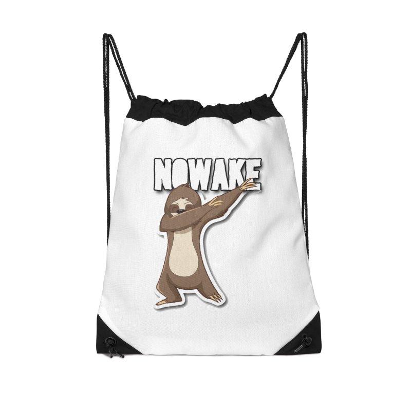 NOWAKE Dabbing Sloth Accessories Drawstring Bag Bag by NOWAKE's Artist Shop