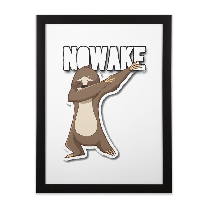 NOWAKE Dabbing Sloth Home Framed Fine Art Print by NOWAKE's Artist Shop