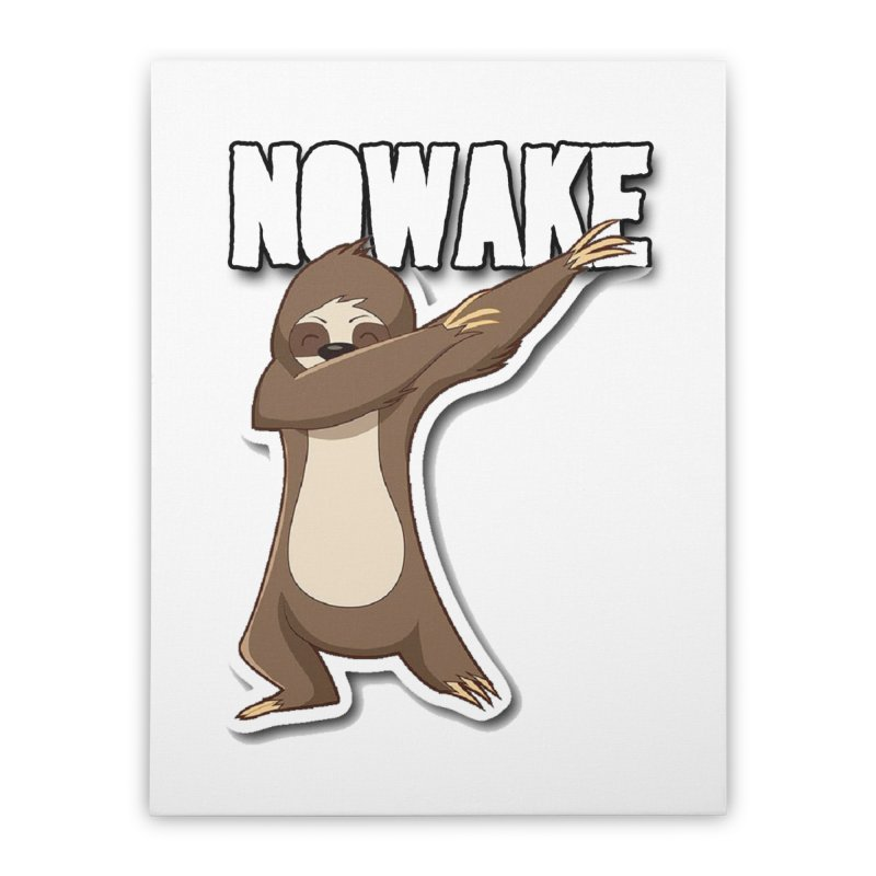 NOWAKE Dabbing Sloth Home Stretched Canvas by NOWAKE's Artist Shop