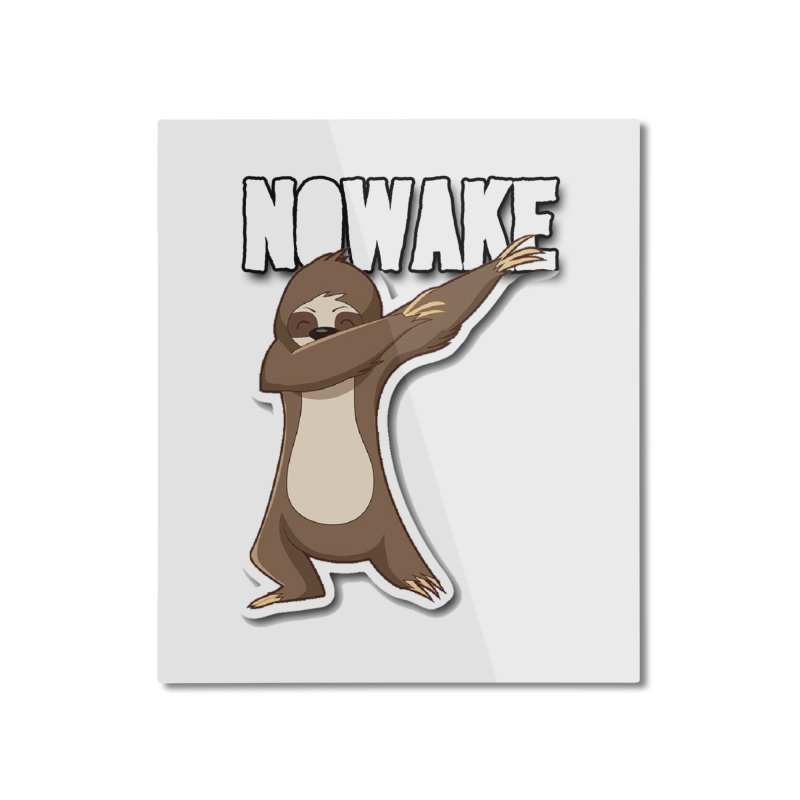 NOWAKE Dabbing Sloth Home Mounted Aluminum Print by NOWAKE's Artist Shop