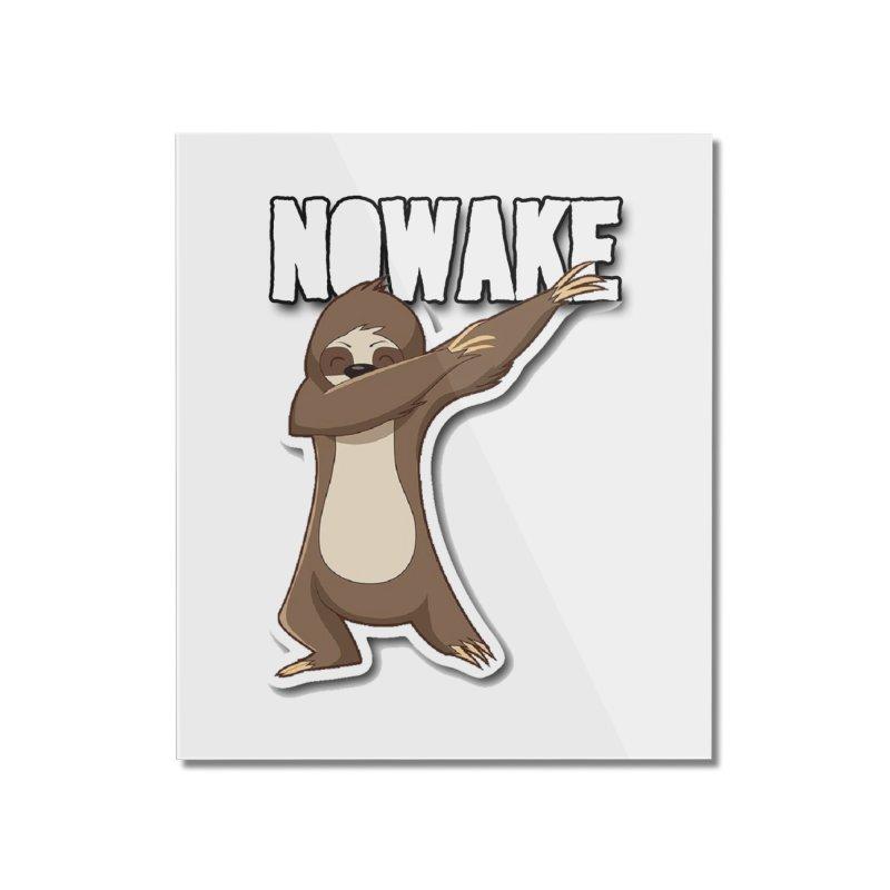 NOWAKE Dabbing Sloth Home Mounted Acrylic Print by NOWAKE's Artist Shop