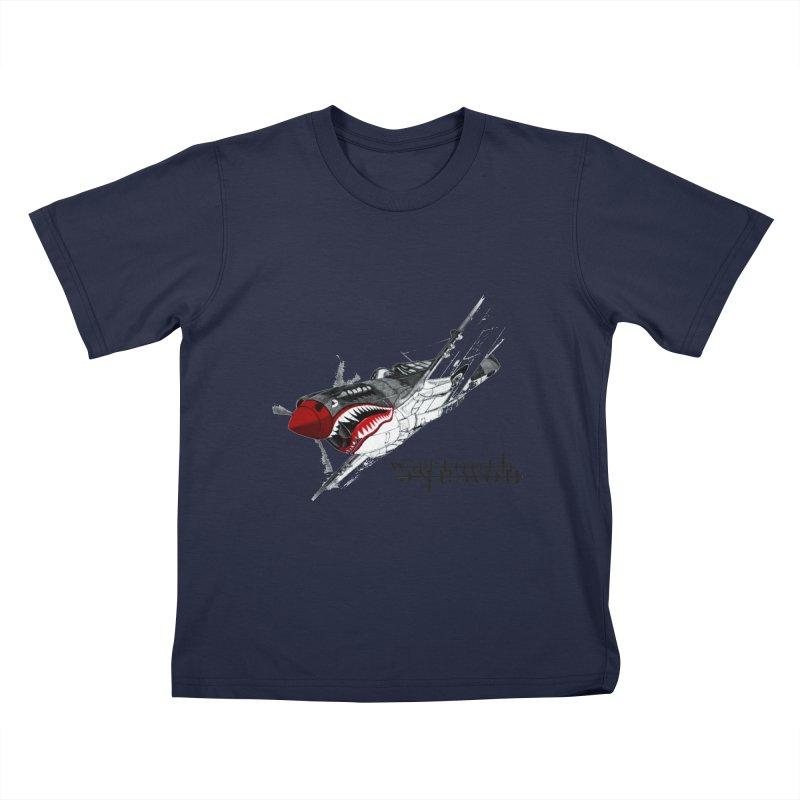 Warplane Kids T-Shirt by NOWAKE's Artist Shop