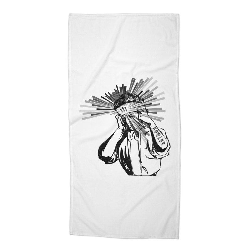 Mind Control Accessories Beach Towel by NOWAKE's Artist Shop
