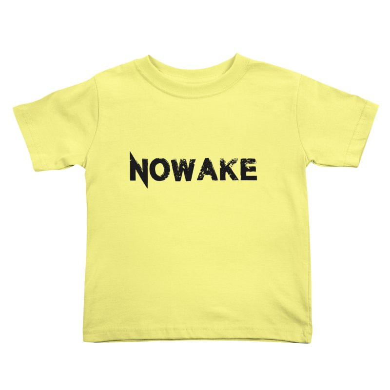 NOWAKE Simple Logo (low) Kids Toddler T-Shirt by NOWAKE's Artist Shop