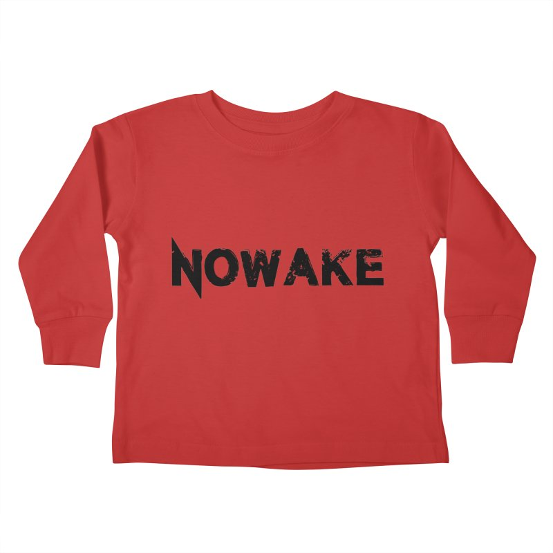 NOWAKE Simple Logo (low) Kids Toddler Longsleeve T-Shirt by NOWAKE's Artist Shop