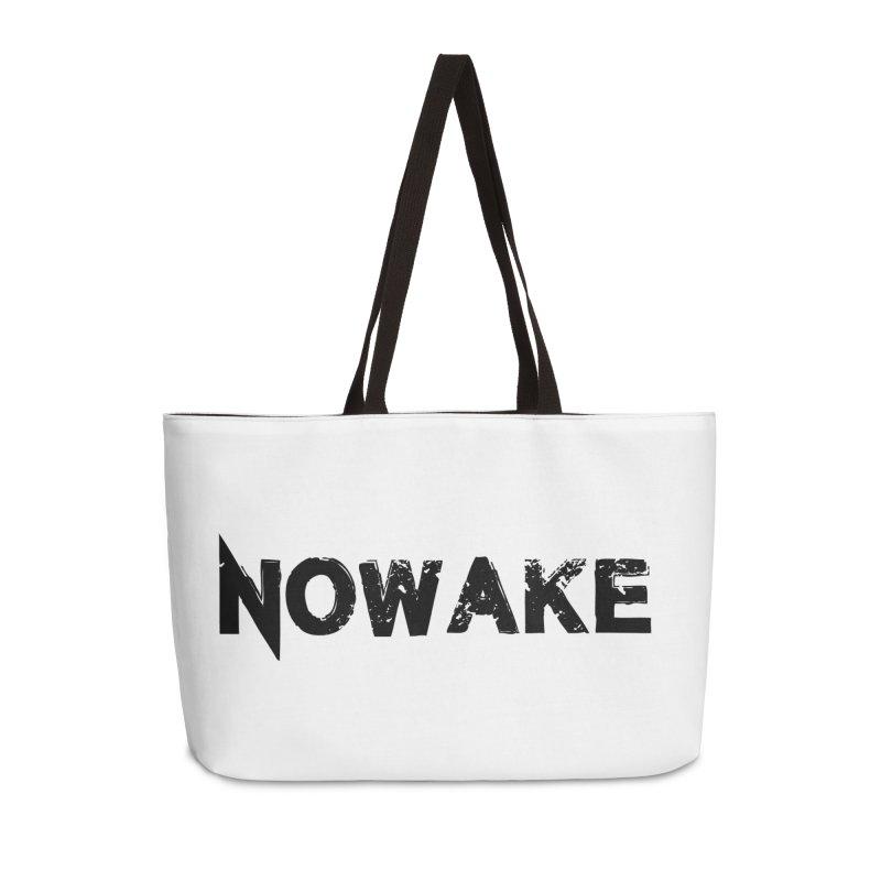 NOWAKE Simple Logo (low) Accessories Weekender Bag Bag by NOWAKE's Artist Shop