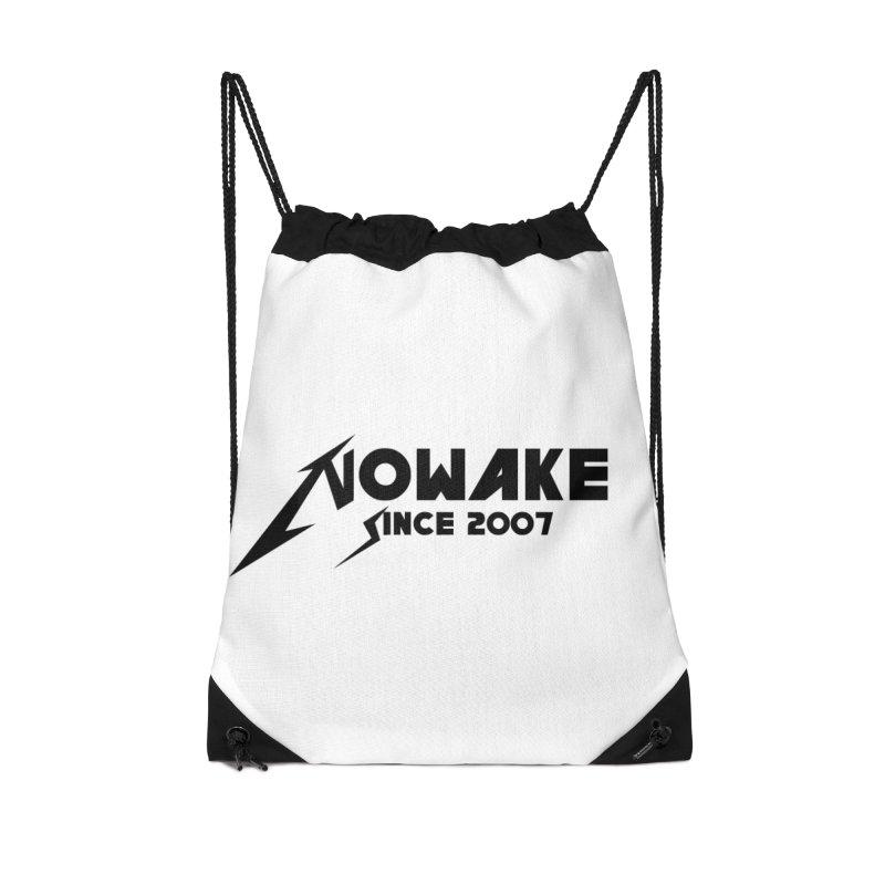 """NOWAKE """"MetalliWake"""" Logo Accessories Drawstring Bag Bag by NOWAKE's Artist Shop"""