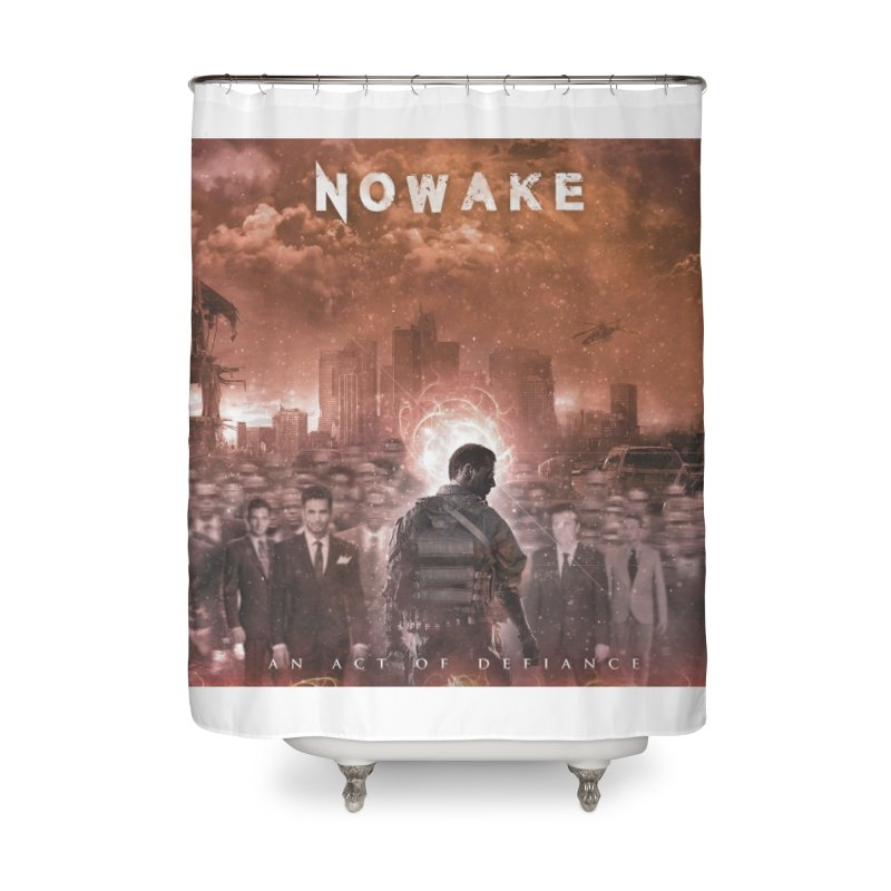 "NOWAKE ""An Act of Defiance"" Album Cover Home Shower Curtain by NOWAKE's Artist Shop"