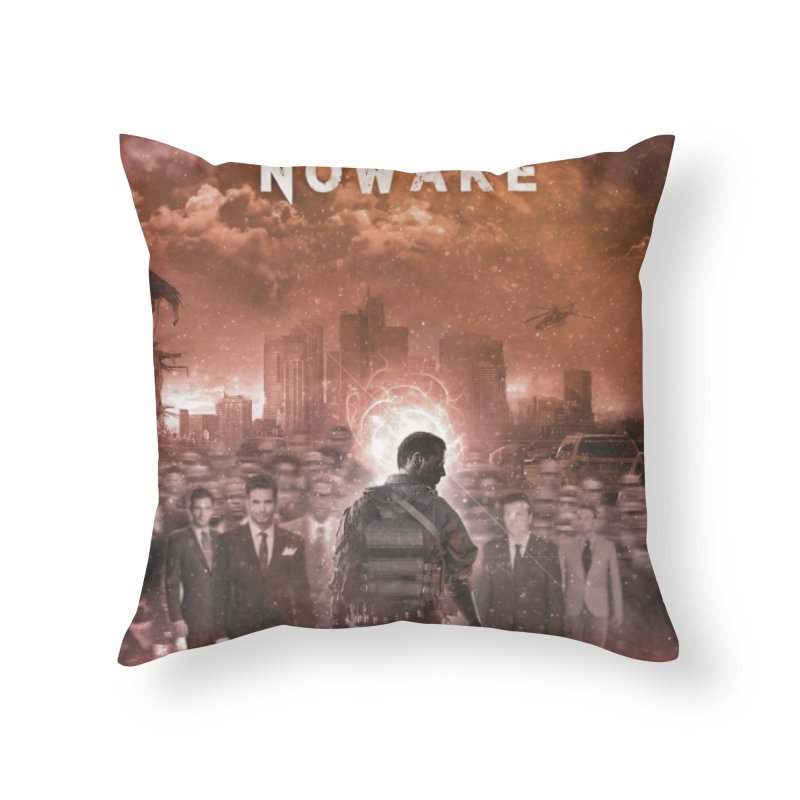 "NOWAKE ""An Act of Defiance"" Album Cover Home Throw Pillow by NOWAKE's Artist Shop"