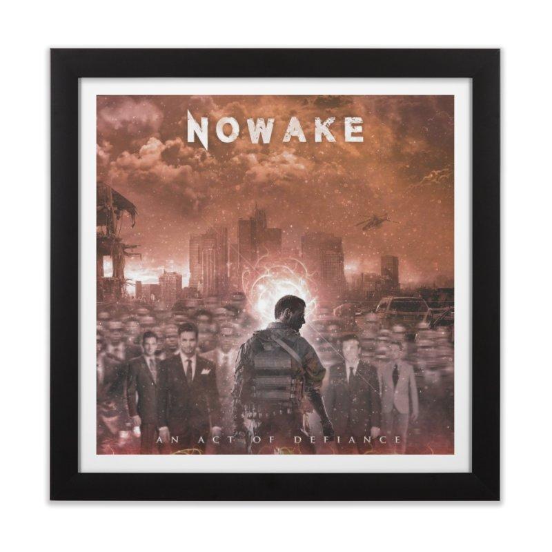 "NOWAKE ""An Act of Defiance"" Album Cover Home Framed Fine Art Print by NOWAKE's Artist Shop"
