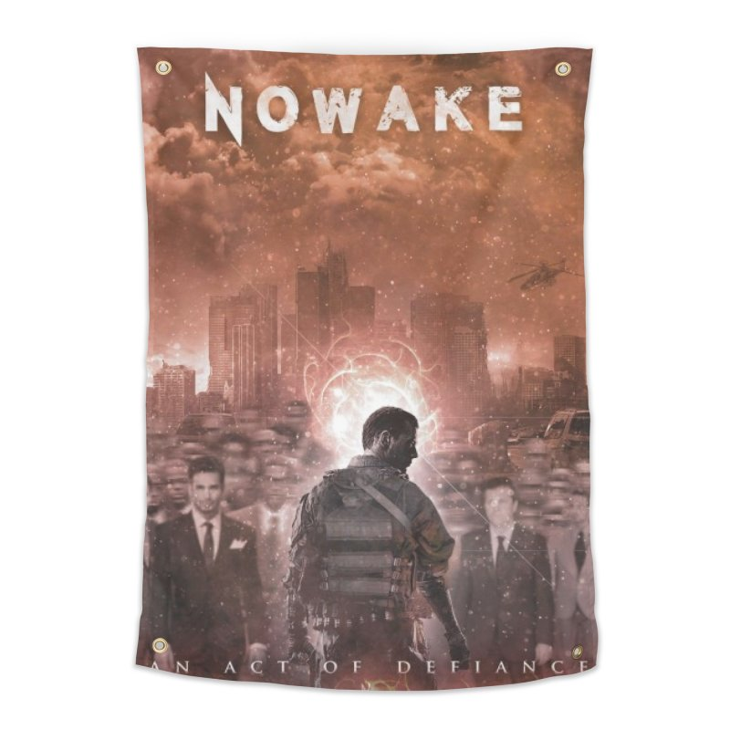 """NOWAKE """"An Act of Defiance"""" Album Cover Home Tapestry by NOWAKE's Artist Shop"""