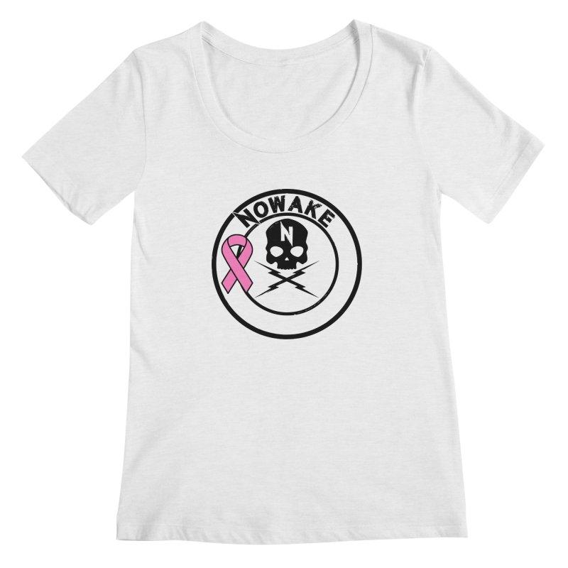 NOWAKE BCA Skull Logo Women's Regular Scoop Neck by NOWAKE's Artist Shop