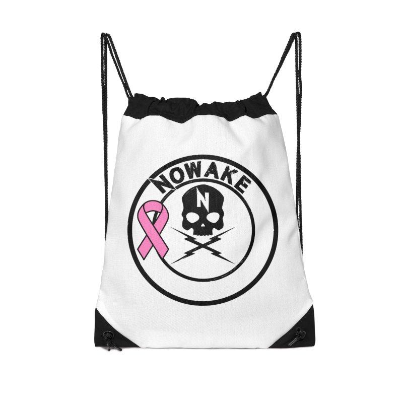 NOWAKE BCA Skull Logo Accessories Drawstring Bag Bag by NOWAKE's Artist Shop