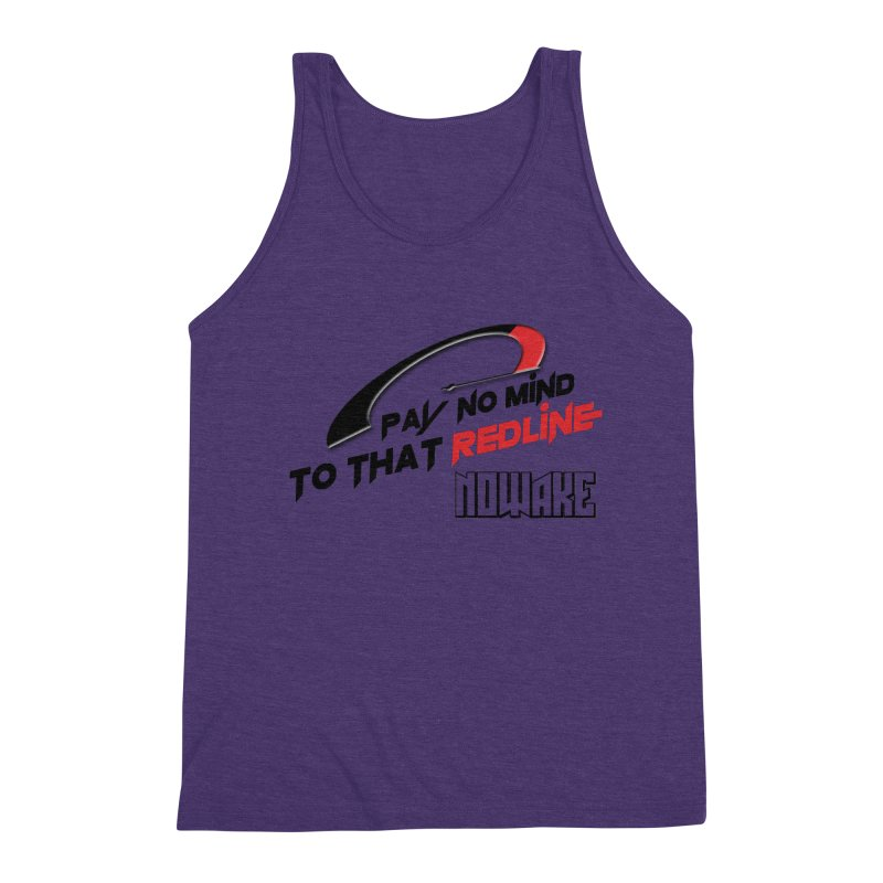 "NOWAKE ""Redline"" Design Men's Triblend Tank by NOWAKE's Artist Shop"