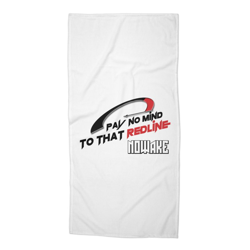 "NOWAKE ""Redline"" Design Accessories Beach Towel by NOWAKE's Artist Shop"
