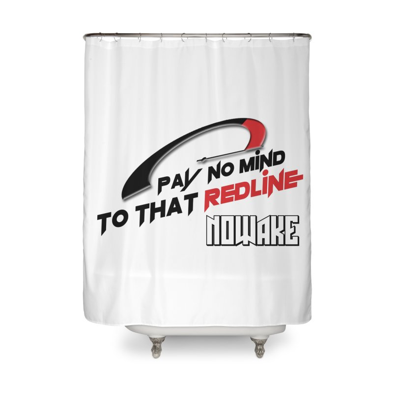 "NOWAKE ""Redline"" Design Home Shower Curtain by NOWAKE's Artist Shop"