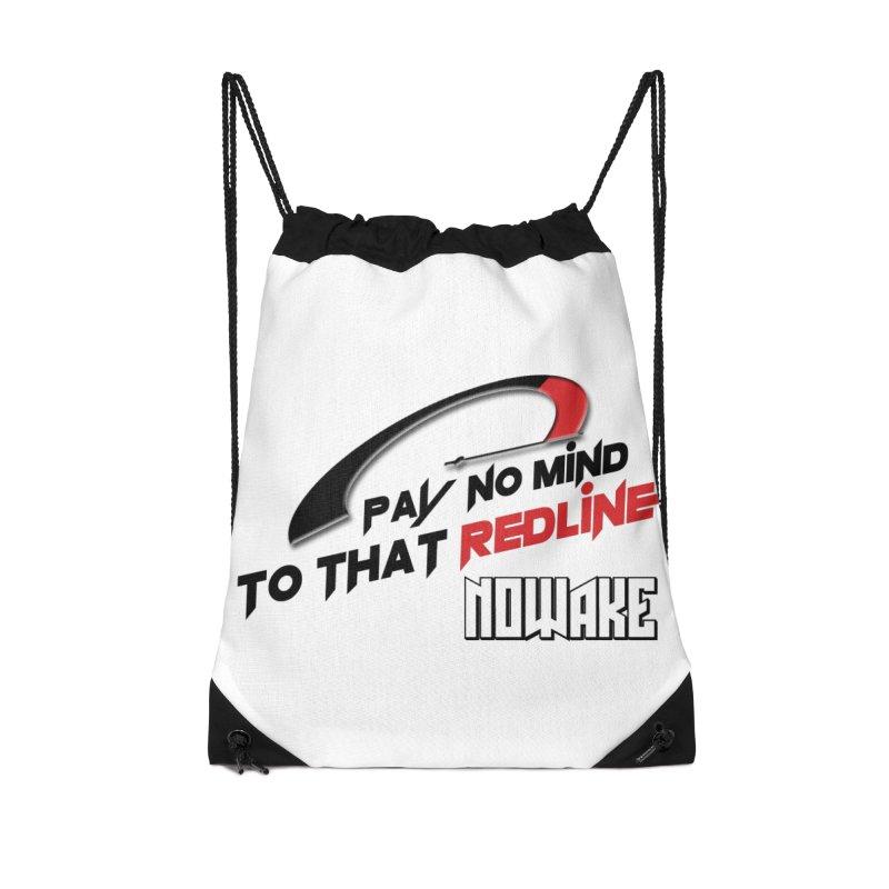 "NOWAKE ""Redline"" Design Accessories Drawstring Bag Bag by NOWAKE's Artist Shop"