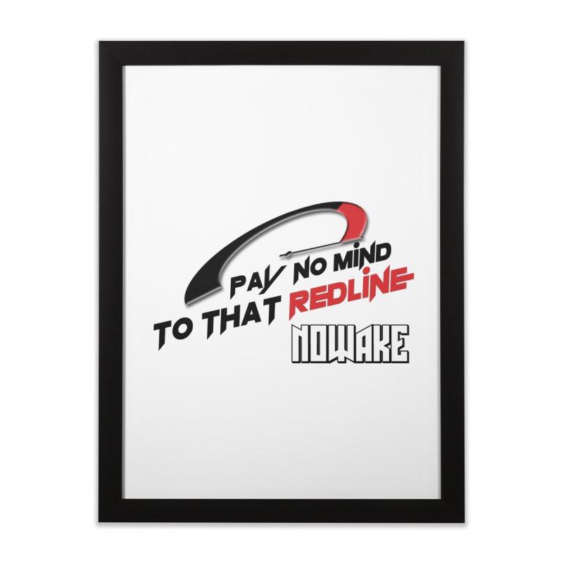 """NOWAKE """"Redline"""" Design Home Framed Fine Art Print by NOWAKE's Artist Shop"""