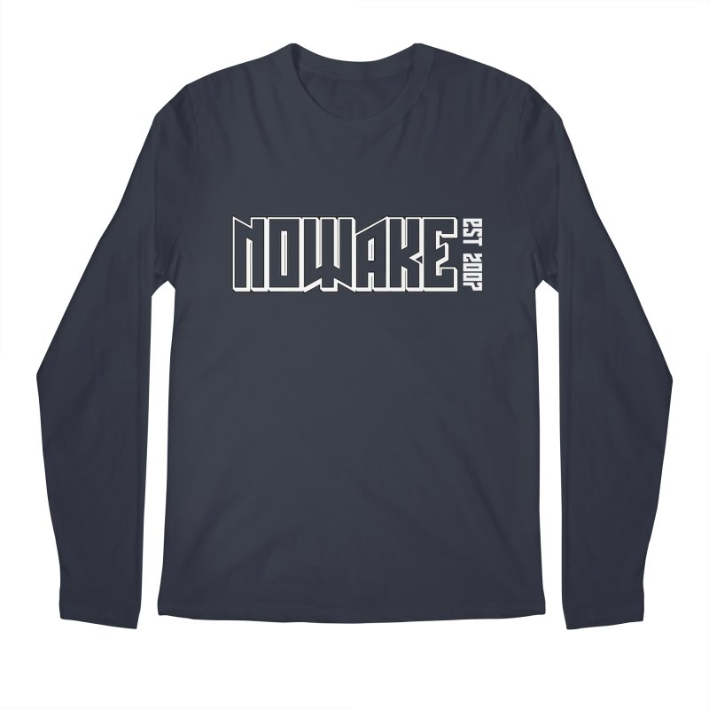 NOWAKE Outline Logo Men's Regular Longsleeve T-Shirt by NOWAKE's Artist Shop