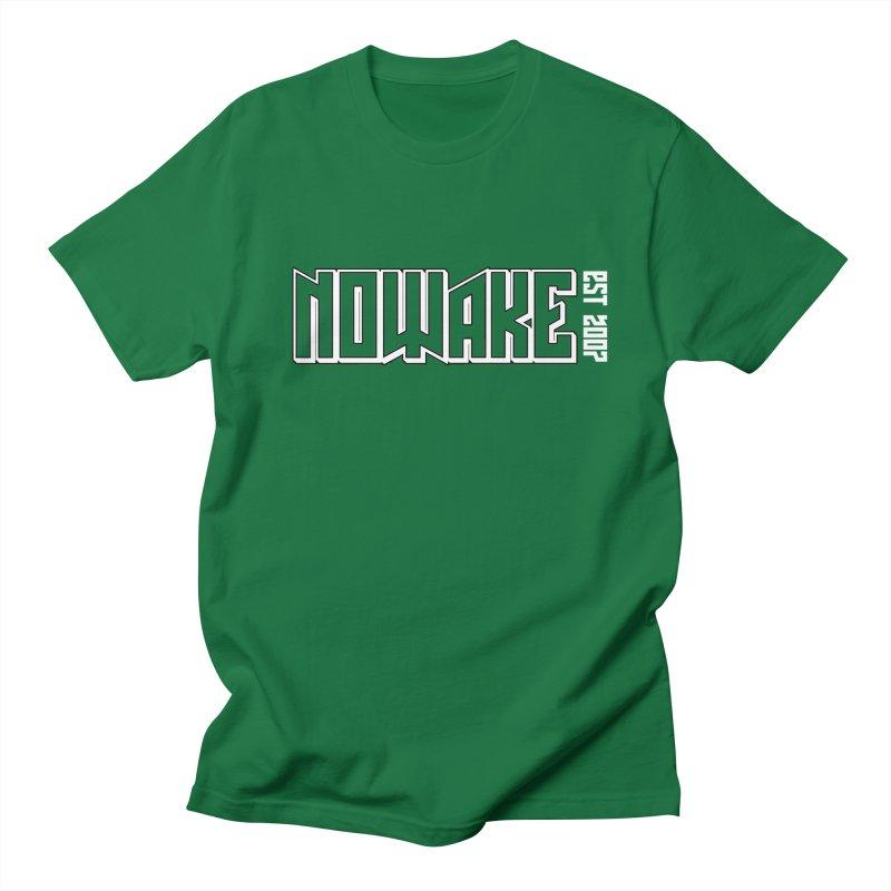 NOWAKE Outline Logo Men's Regular T-Shirt by NOWAKE's Artist Shop