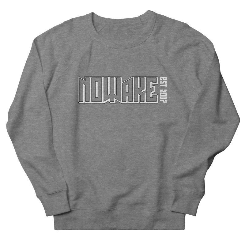 NOWAKE Outline Logo Women's French Terry Sweatshirt by NOWAKE's Artist Shop