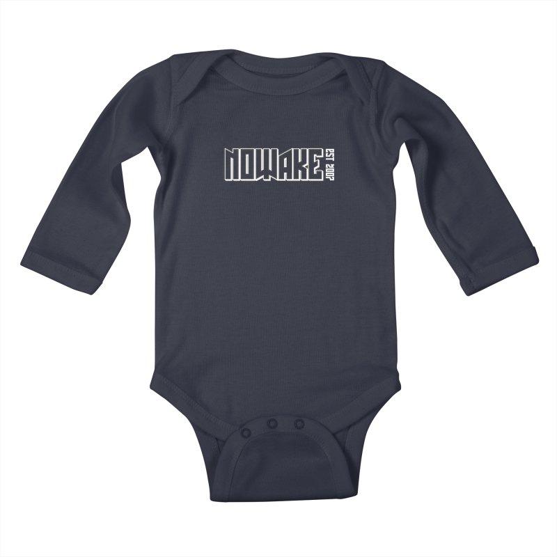 NOWAKE Outline Logo Kids Baby Longsleeve Bodysuit by NOWAKE's Artist Shop