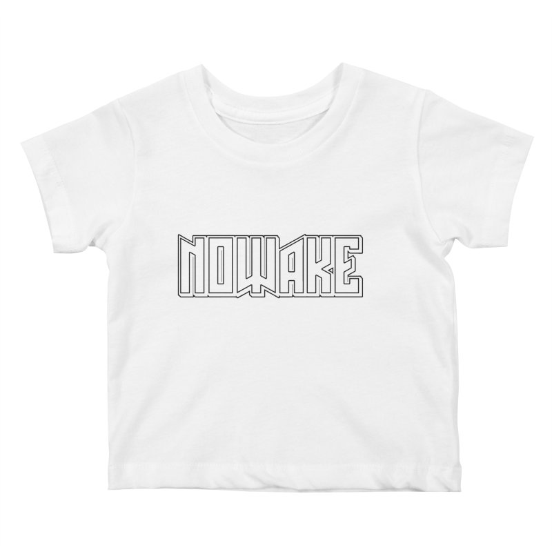 NOWAKE Outline Logo Kids Baby T-Shirt by NOWAKE's Artist Shop