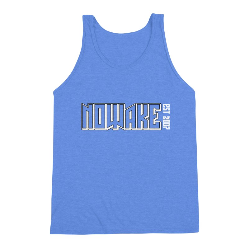 NOWAKE Outline Logo Men's Triblend Tank by NOWAKE's Artist Shop