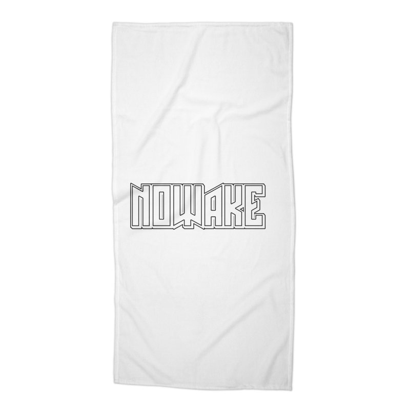 NOWAKE Outline Logo Accessories Beach Towel by NOWAKE's Artist Shop