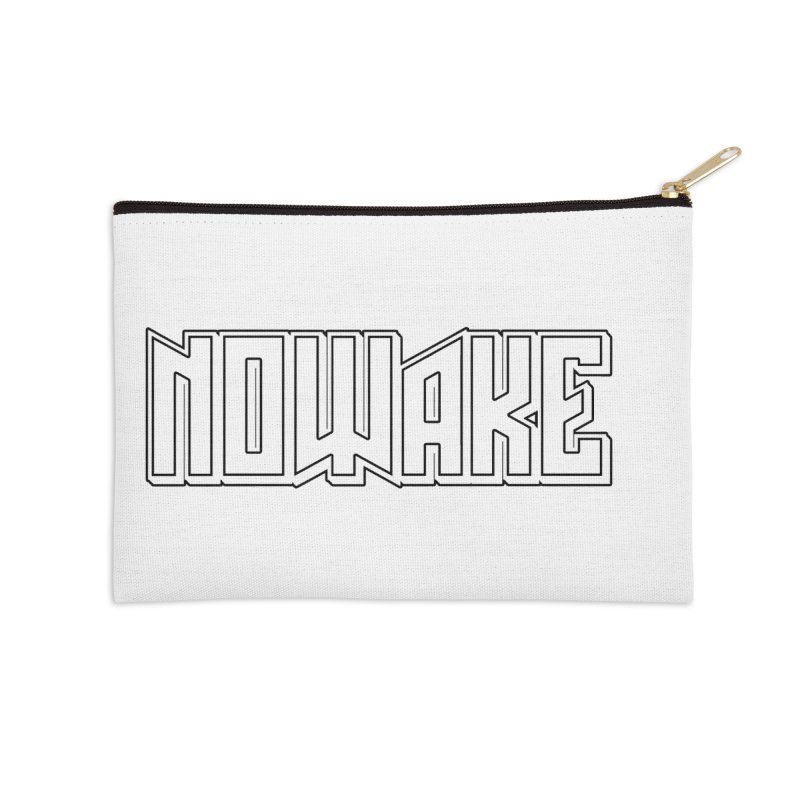 NOWAKE Outline Logo Accessories Zip Pouch by NOWAKE's Artist Shop