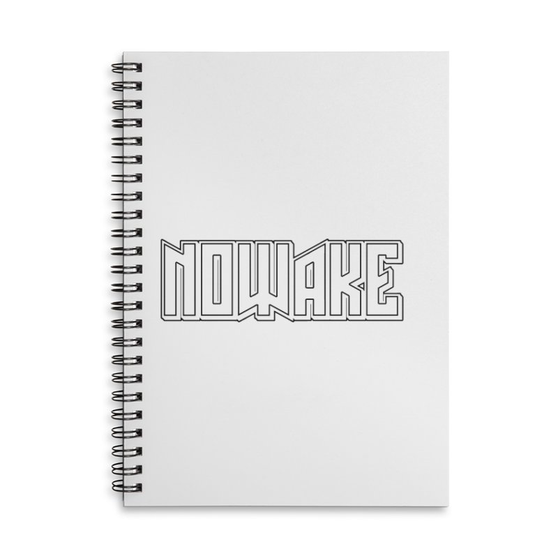 NOWAKE Outline Logo Accessories Notebook by NOWAKE's Artist Shop