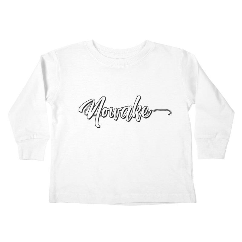 NOWAKE Handdrawn Design Kids Toddler Longsleeve T-Shirt by NOWAKE's Artist Shop
