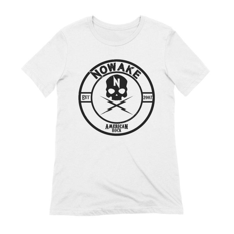 NOWAKE American Rock (in black) Women's Extra Soft T-Shirt by NOWAKE's Artist Shop