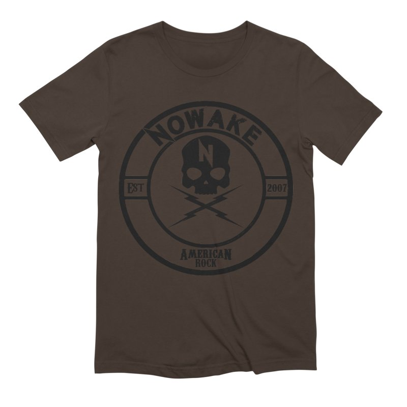 NOWAKE American Rock (in black) Men's Extra Soft T-Shirt by NOWAKE's Artist Shop