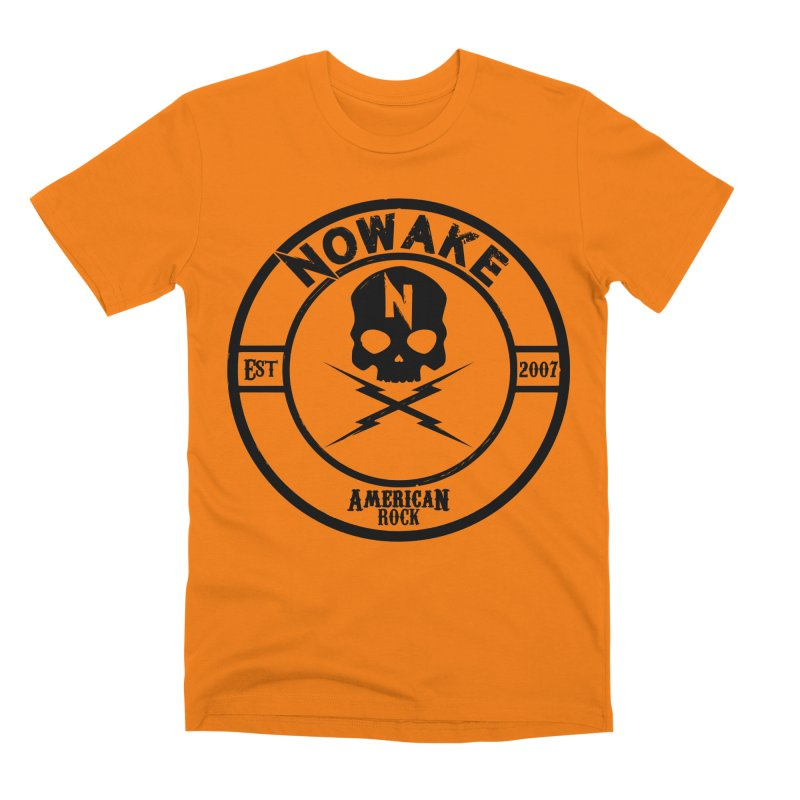 NOWAKE American Rock (in black) Men's T-Shirt by NOWAKE's Artist Shop
