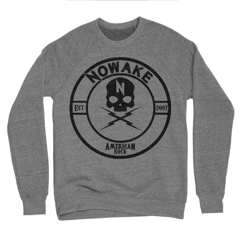 NOWAKE American Rock (in black) Women's Sponge Fleece Sweatshirt by NOWAKE's Artist Shop
