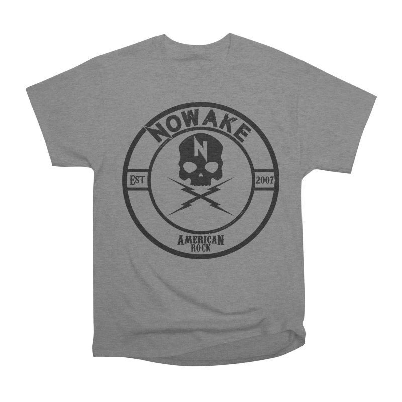 NOWAKE American Rock (in black) Men's Heavyweight T-Shirt by NOWAKE's Artist Shop