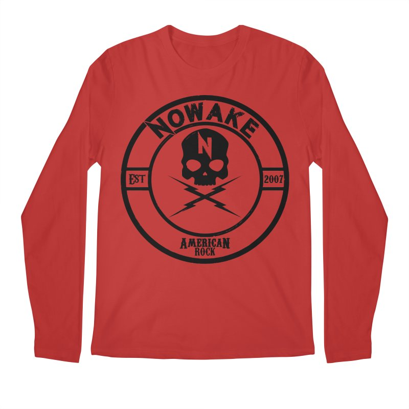 NOWAKE American Rock (in black) Men's Regular Longsleeve T-Shirt by NOWAKE's Artist Shop