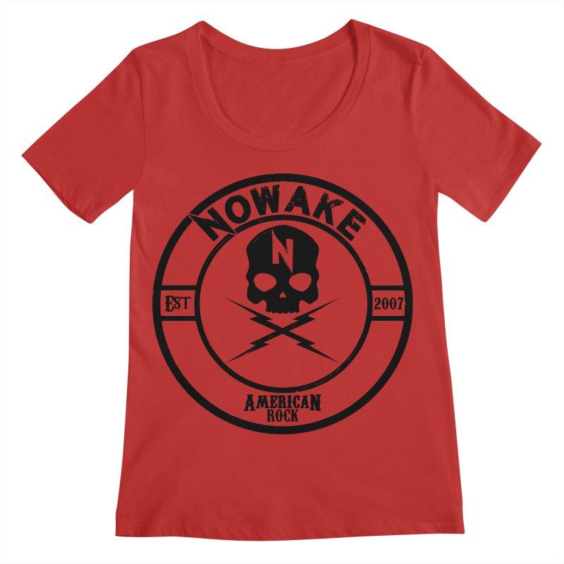 NOWAKE American Rock (in black) Women's Regular Scoop Neck by NOWAKE's Artist Shop