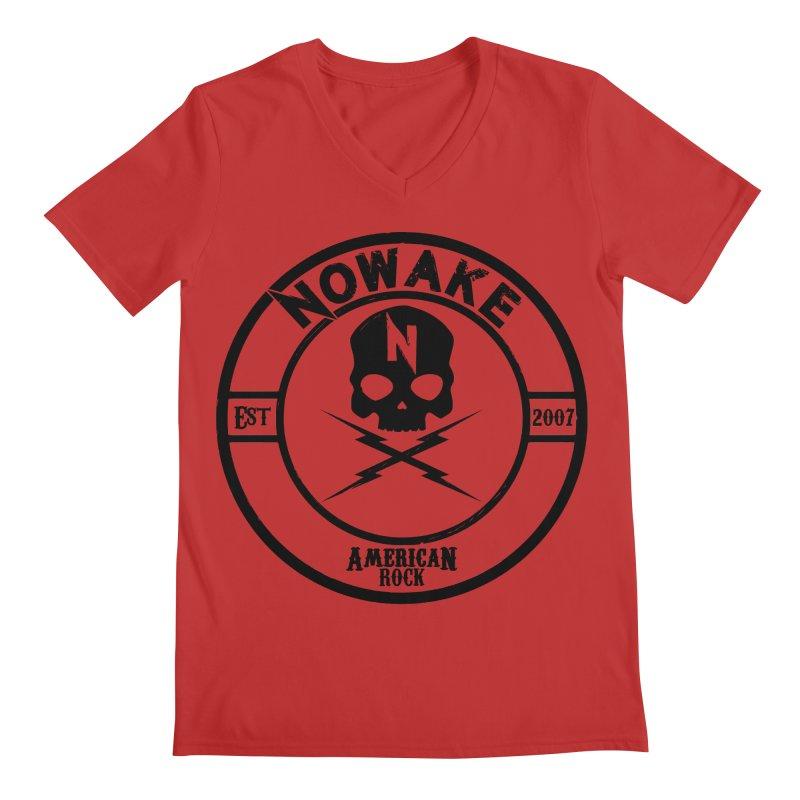 NOWAKE American Rock (in black) Men's Regular V-Neck by NOWAKE's Artist Shop