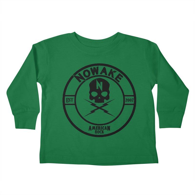 NOWAKE American Rock (in black) Kids Toddler Longsleeve T-Shirt by NOWAKE's Artist Shop
