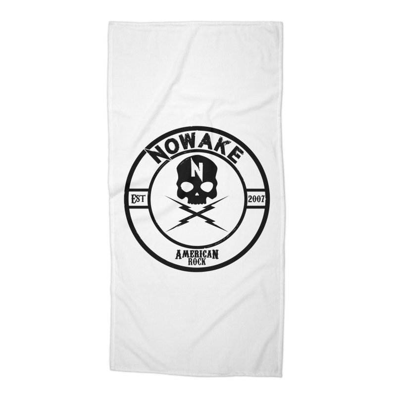 NOWAKE American Rock (in black) Accessories Beach Towel by NOWAKE's Artist Shop