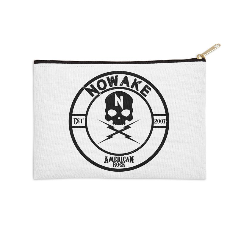 NOWAKE American Rock (in black) Accessories Zip Pouch by NOWAKE's Artist Shop