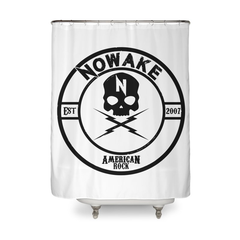 NOWAKE American Rock (in black) Home Shower Curtain by NOWAKE's Artist Shop