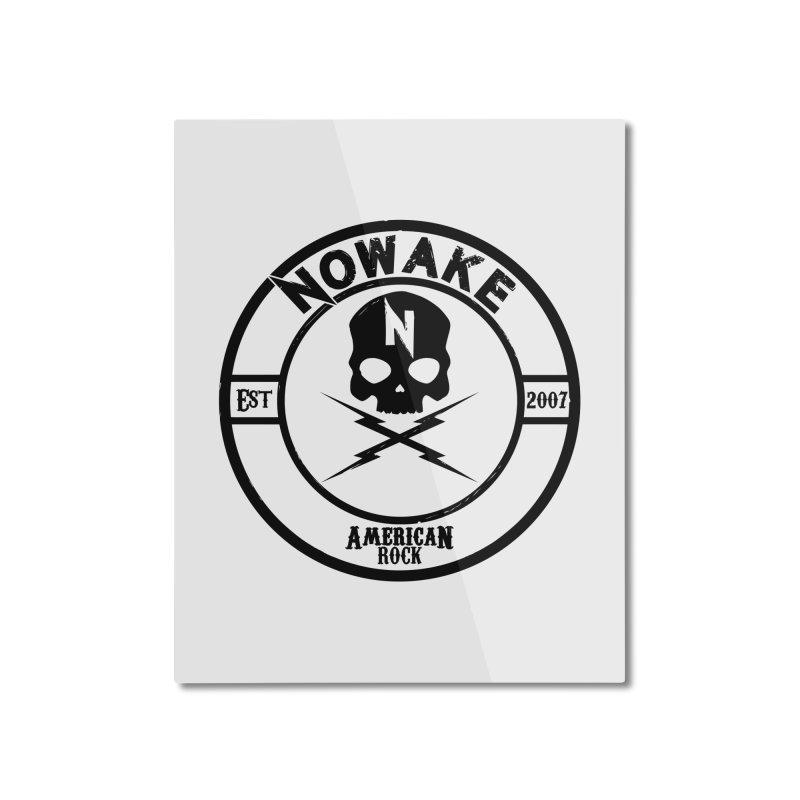 NOWAKE American Rock (in black) Home Mounted Aluminum Print by NOWAKE's Artist Shop