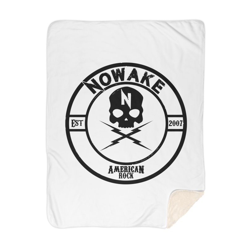 NOWAKE American Rock (in black) Home Sherpa Blanket Blanket by NOWAKE's Artist Shop